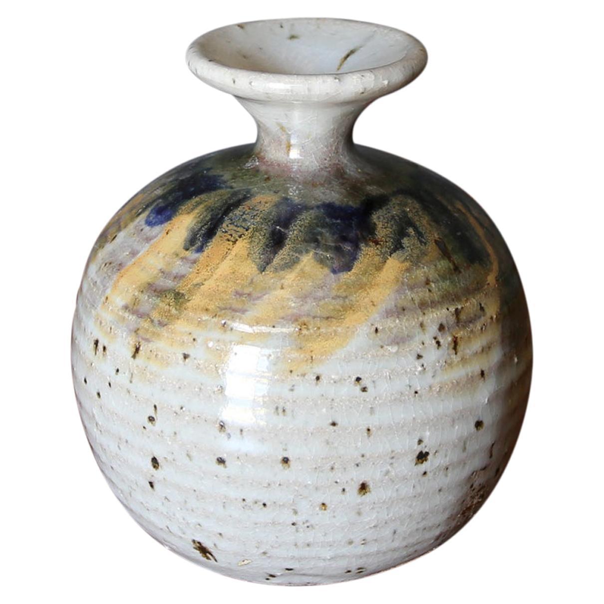 Studio Pottery Signed Ceramic Vase, circa 1970