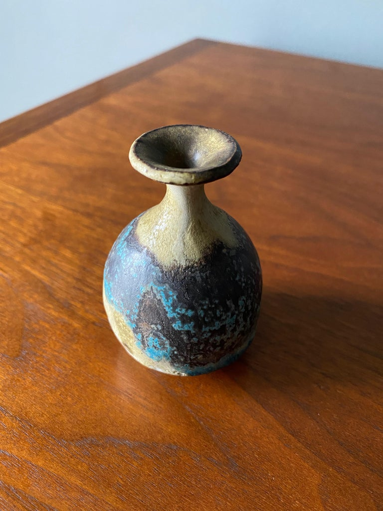 Studio Pottery Signed Ceramic Weed Pot, circa 1970 For Sale 1