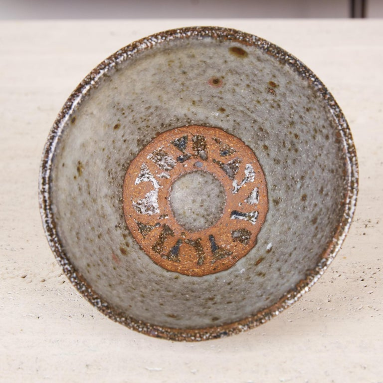 Studio Pottery Stoneware Bowl In Excellent Condition For Sale In Los Angeles, CA