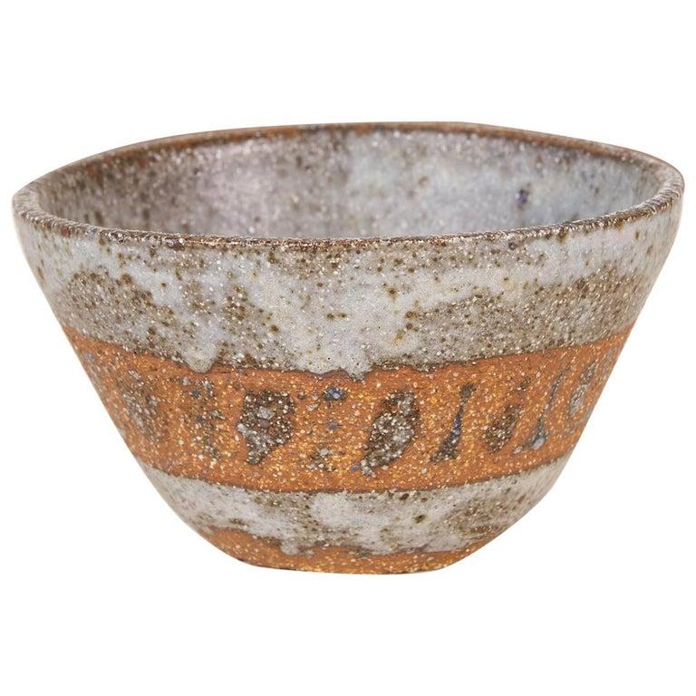 Studio Pottery Stoneware Bowl For Sale