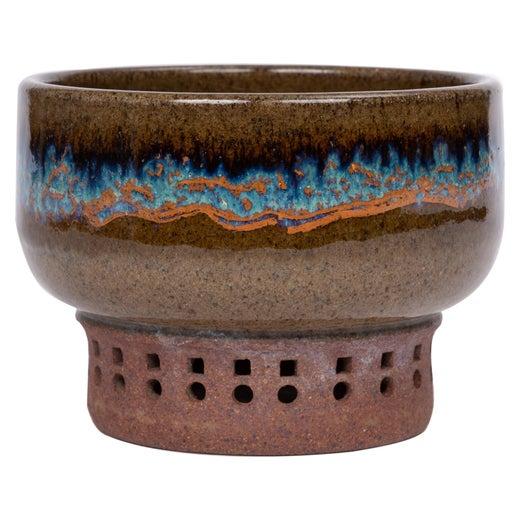 Vintage Colander STUDIO POTTERY Ceramic LAVENDER Accent 1990s Modern
