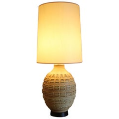 Studio Pottery Table Lamp by Bob Kinzie Original Shade