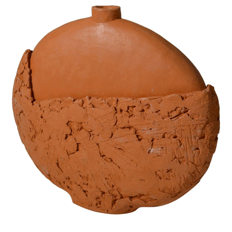 Studio Pottery Terracotta Vase