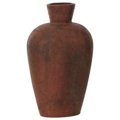 Studio Pottery Vase in Terracotta, 1970s