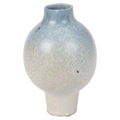 Studio Pottery Vase with Light Ombre Glaze