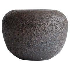 Studio Pottery Vessel Volcanic Glaze
