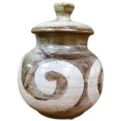 Studio Pottery Vessel with Lid by Herman Volz