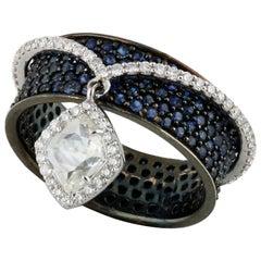 Studio Rêves 0.71 Carat Rose Cut Diamond Band Ring in 18 Karat Gold