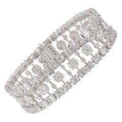 Studio Rêves 10.49 Carat Brilliant Cut Diamonds Tennis Bracelet in 18 Karat Gold