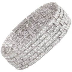 Studio Rêves 14.75 Carat Diamond Tennis Bracelet in 14 Karat Gold
