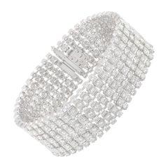 Studio Rêves 16.14 Carat Diamond Tennis Bracelet in 14 Karat Gold