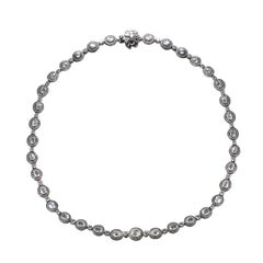 Studio Rêves 18 Karat Gold and Diamonds Line Necklace with Black Rhodium
