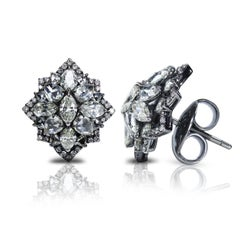 Studio Rêves 18K White Gold Diamond Tops
