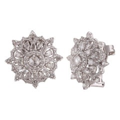 Studio Rêves 2.44 Carat Circular Shaped Diamond Stud Earrings in 18 Karat Gold