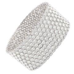 Studio Rêves 24.68 Carat Diamond Tennis Bracelet in 14 Karat Gold