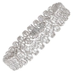 Studio Rêves 6.32 Carat Tapered Diamond Tennis Bracelet in 18 Karat White Gold