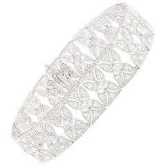 Studio Rêves 7.5 Carat Diamond Tennis Bracelet in 14 Karat Gold