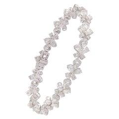 Studio Rêves 7.91 Carat Butterfly Diamond Tennis Bracelet in 18 Karat Gold