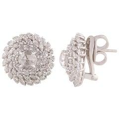 Studio Rêves Brilliant Cut Diamonds and Rosecut Earrings in 18 Karat Gold