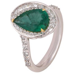 Studio Rêves Castle Emerald and Diamond Cocktail Ring in 18 Karat Gold