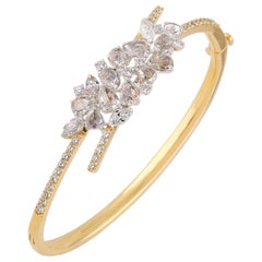 Studio Rêves Crest Diamond Cluster Bracelet in 18 Karat Gold