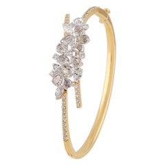 Studio Rêves Crest Diamond Cluster Bracelet in 18 Karat Gold