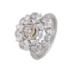 Studio Rêves Cut-work Patterned Diamond Ring in 18 Karat Gold