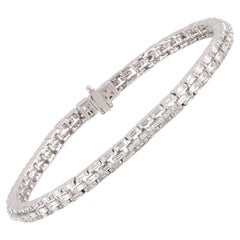 Studio Rêves Diamond Baguette Tennis Bracelet in 18 Karat Gold