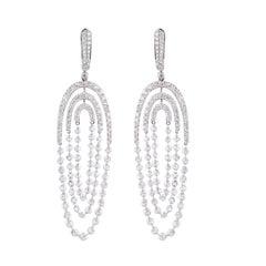 Studio Rêves Diamond Dangling Earrings in 18 Karat Gold