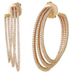 Studio Rêves Diamond Hoop Earrings in 18 Karat Yellow Gold