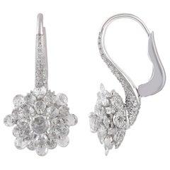 Studio Rêves Diamond Lever-Back Earrings in 18 Karat White Gold