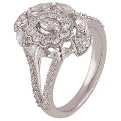 Studio Rêves Diamond Lovers Dream in 18 Karat White Gold Ring