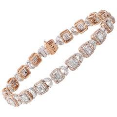 Studio Rêves Diamond Mosaic Tennis Bracelet in 18 Karat Gold
