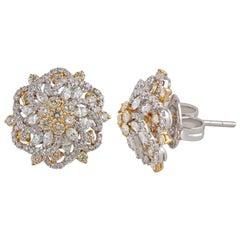 Studio Rêves Diamond Stud Earrings in 18 Karat Gold