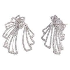 Studio Rêves Diamond Stud Earrings in 18 Karat White Gold