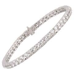 Studio Rêves Diamond Tennis Bracelet in 18 Karat Gold