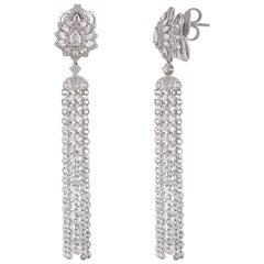 Studio Rêves Diamond Waterfall Earrings in 18 Karat Gold