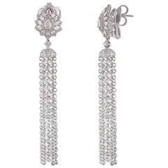 Studio Rêves Diamond Waterfall Earrings in 18 Karat White Gold