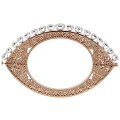 Studio Rêves Diamonds and Filigree Bracelet in 18 Karat Gold