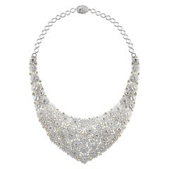 Studio Rêves Diamonds Floral Carpet Necklace in 18 Karat Gold