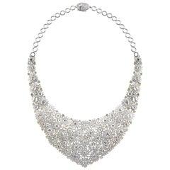 Studio Rêves Diamonds Floral Carpet Necklace in 18 Karat Gold