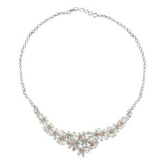 Studio Rêves Diamonds Floral Necklace in 18 Karat Gold