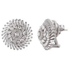 Studio Rêves Diamonds Snowflakes Earrings in 18 Karat Gold
