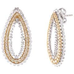 Studio Rêves Drop Diamond Stud Earrings in 18 Karat Gold