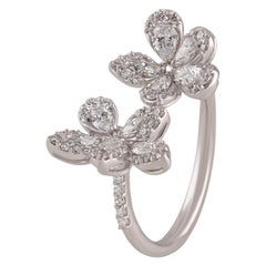 Studio Rêves Fancy Diamond Fashion Ring in 18 Karat White Gold