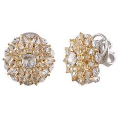 Studio Rêves Floret Diamond Stud Earrings in 18 Karat Gold