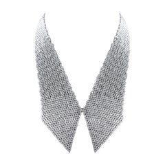 Studio Rêves Marquise Diamond Collar Scarf Necklace in 18 Karat Gold