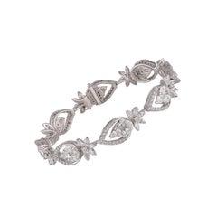 Studio Rêves Mosaic Setting Diamond Tennis Bracelet in 18 Karat Gold