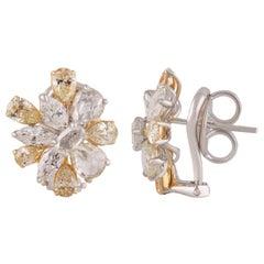 Studio Rêves Rose Cut Diamond Stud Earrings in 18 Karat Gold