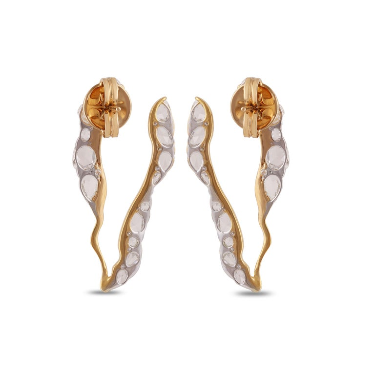 Studio Rêves Rosecut Diamond Stud Earrings in 18 Karat Gold 2